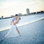 St Kilda sunset.  Sally Hughes - Melbourne Marriage Celebrant with Tara & Glenn.  www.wordsandmusic...