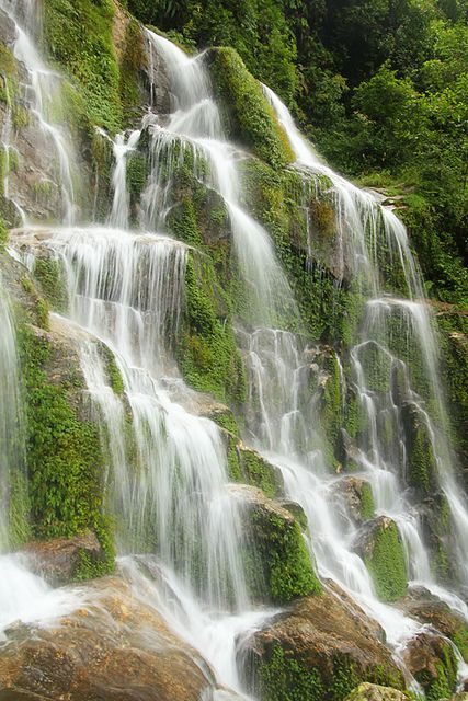 Waterfalls near Gangtok, India by P_a_r_a_m, via Flickr