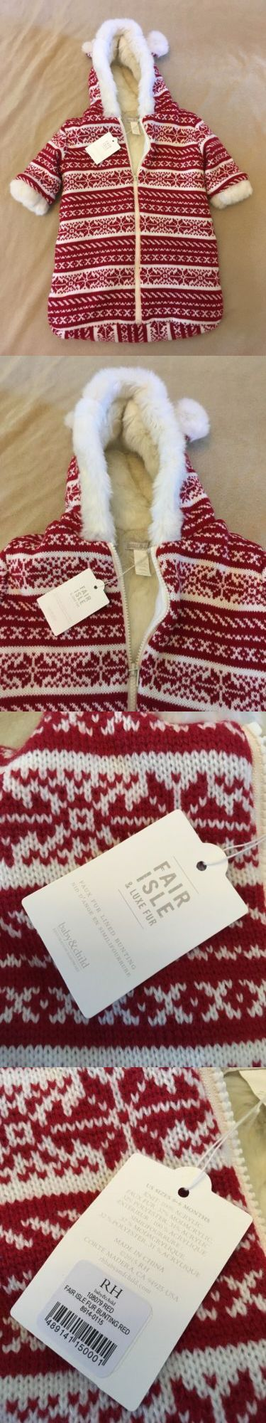 Outerwear 163399: Restoration Hardware Baby Bunting Fair Isle Baby And Child Red Sweater Ears Nwt -> BUY IT NOW ONLY: $32.36 on eBay!