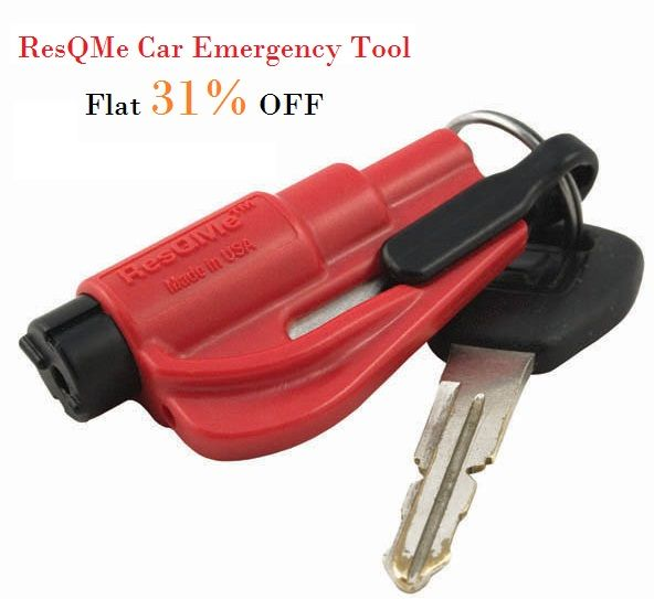 RESQME CAR EMERGENCY TOOL = Belt Cutter + Glass Breaker = Car Safety = Family Safety Know more: http://bit.ly/1jU44Ia
