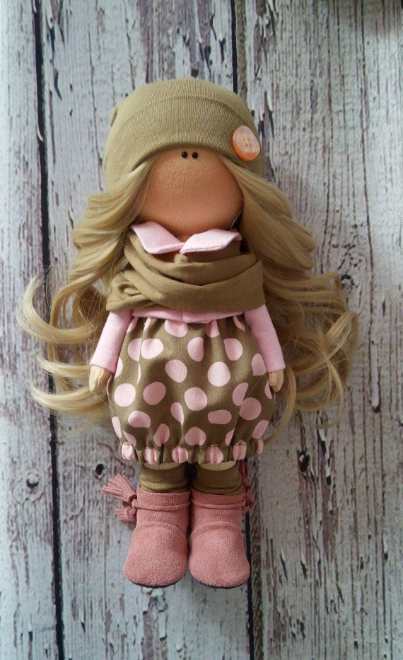 Home doll Tilda doll Art doll handmade blonde by AnnKirillartPlace
