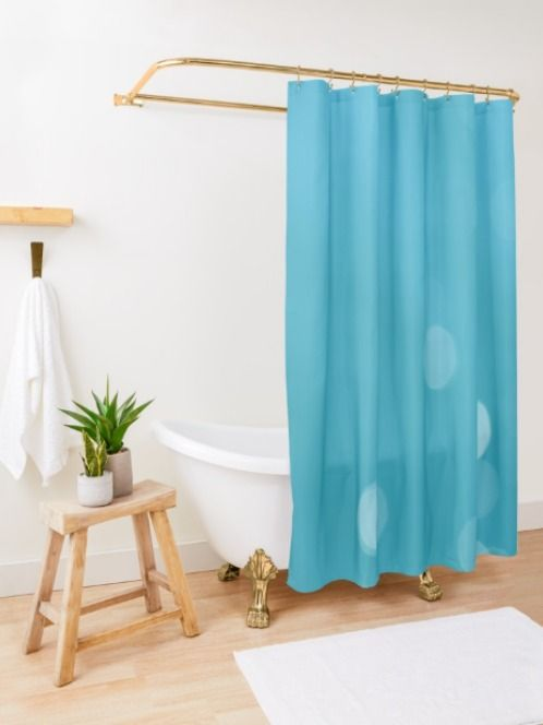 Turquoise Sea Bokeh Shower Curtain By By Jwp Patterned Shower Curtain Unique Shower Curtain Tubs And Showers