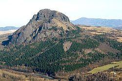 Bořeň od ZJZ ze Želenického vrchu