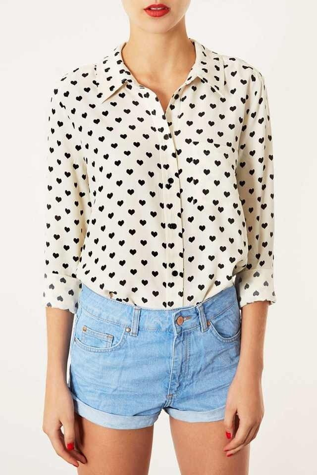 tiny hearts blouse