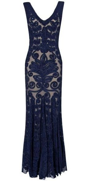 Phase Eight Paloma full length dress, Navy