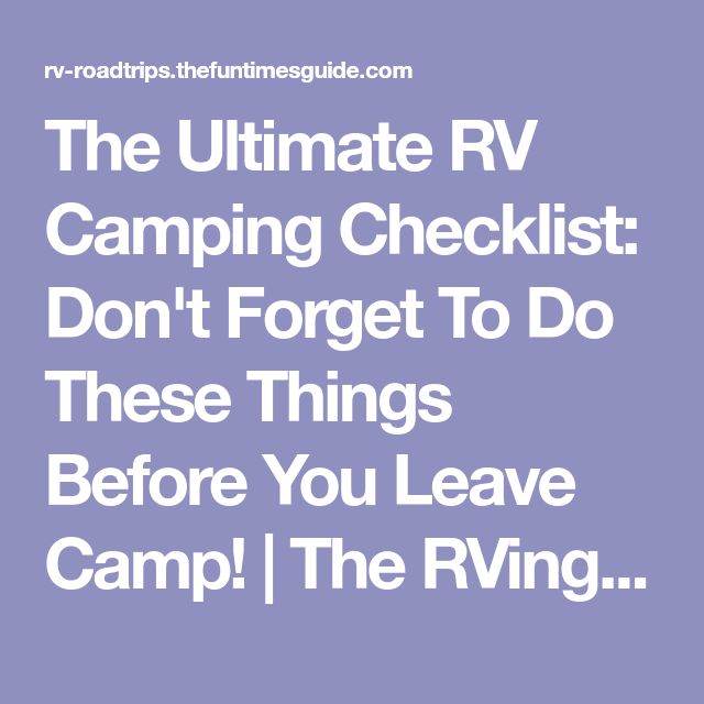 The 25+ best Rv camping checklist ideas on Pinterest Camper list - camping checklist template