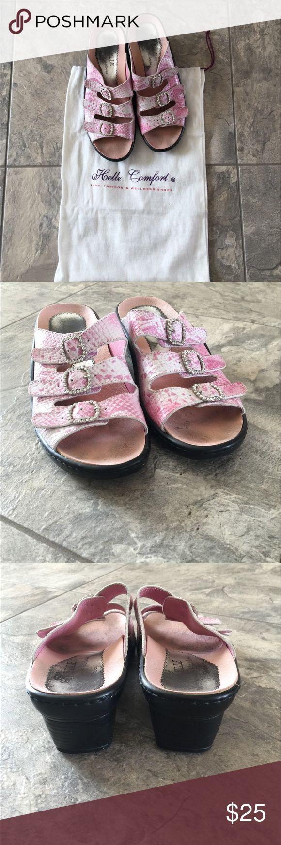 European sandals shoes - Helle Comfort Shoes Pink Bling Sandals European Size 37 I Am A 6 1