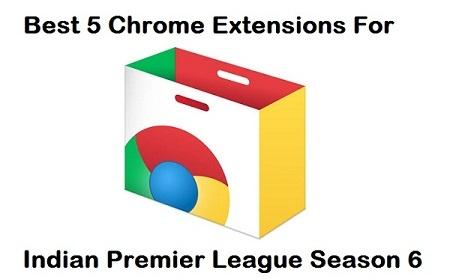 Chrome Extensions for Indian Premier League - IPL 2013