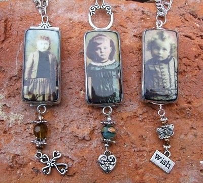 DIY - Domino pendants. Lovely ... love the vintage feel to these. Made a few of these with heritage photos! <3