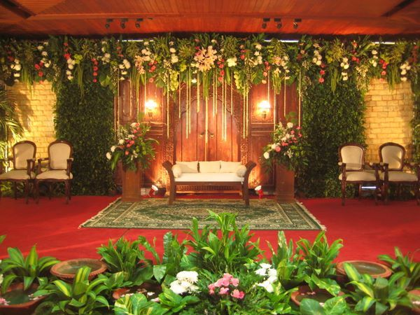 The Wedding Stage (Pelaminan) is where the bride, groom and their ...