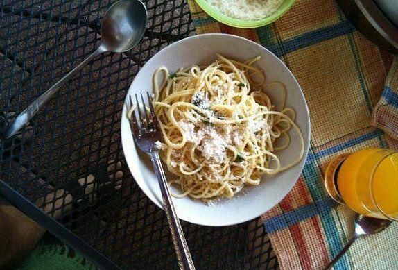 Italské špagety aglio olio