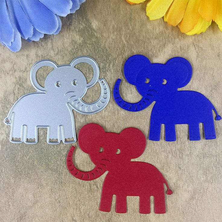 Baby Elephant Card Maker Metal Die Cutting Dies For DIY Scrapbooking Photo Album Decorative Die Cutting Template