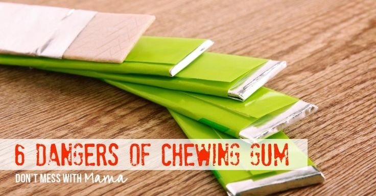 the dangers of chewing gum Many of these patients have friends with braces who have chewed gum, with no  apparent negative consequences others might be familiar.