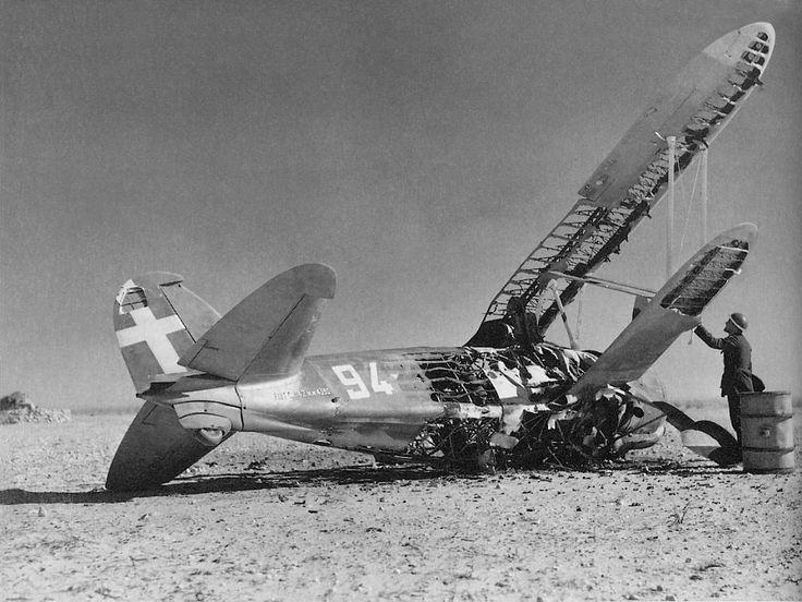 https://flic.kr/p/cPgosS | Fiat CR.42 crash