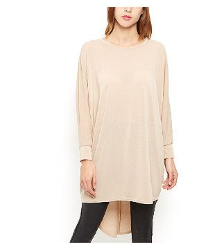 Camel Fine Knit Oversized Batwing Top | New Look