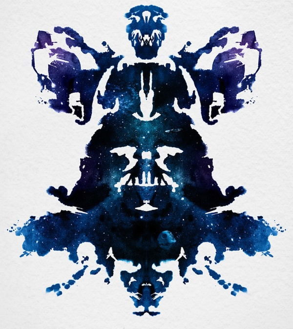 Rorschach test :: What do you see? the dark side? a father figure?