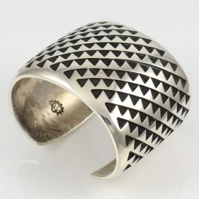 Trickling Water Cuff by Anderson Koinva - Garland's Indian Jewelry. $850
