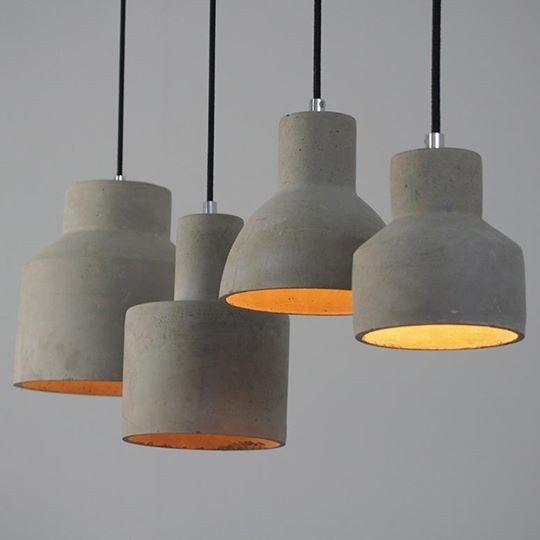 Concrete Oslo Pendant Light #beton #ceiling-light #clean