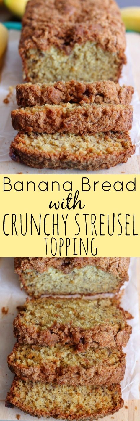 Banana Bread with Crunchy Cinnamon Streusel Topping - My go-to banana bread recipe.