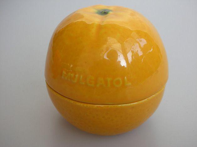 Orange Marmeladen-Dose für Konfitüre Konfekt