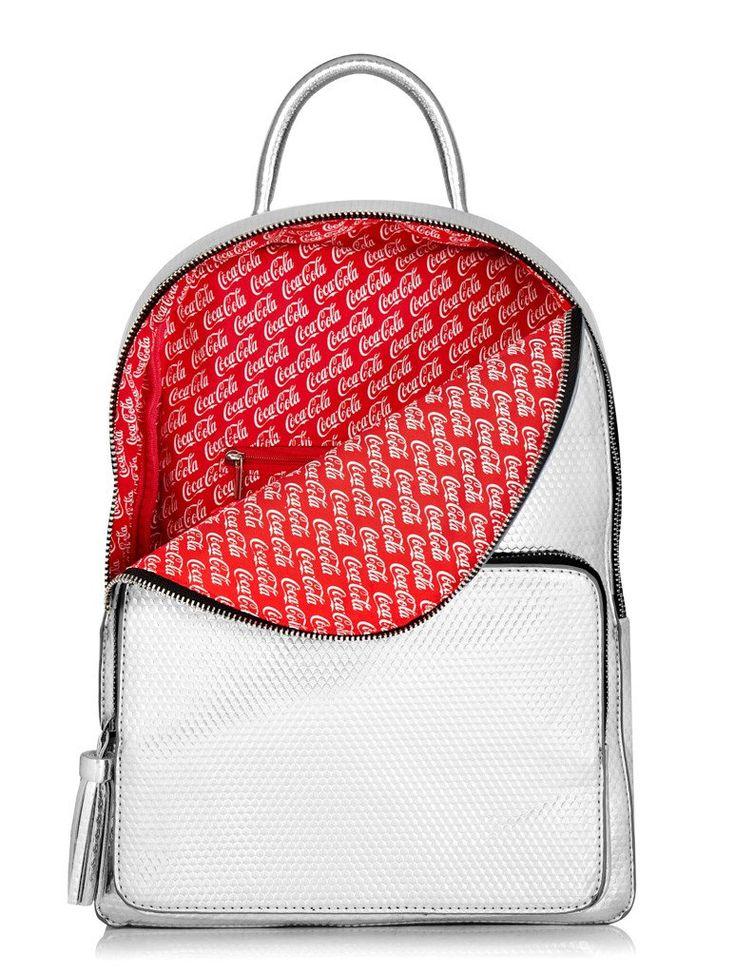 Skinnydip Coke Silver Backpack
