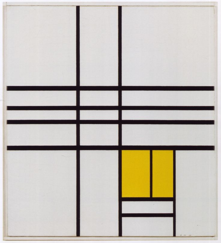 Piet Mondrian, Composition with Yellow, 1936