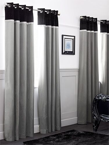 Messina Diamond Curtains - a cool, contemporary colour scheme is given a beautiful sparkle with the diamante trim