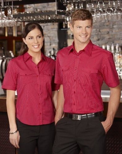 Ladies Cuban Shirt - Short Sleeve