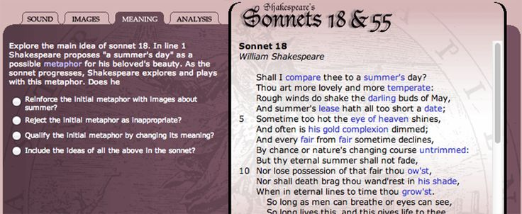 shakespeare poems with explanation