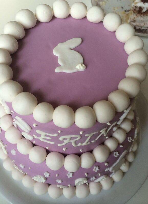 Little girl 1st Birthday Cake / close up