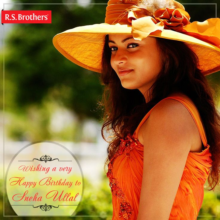 Sending across love and warm wishes for a very #Happy Birthday to the Gorgeous actress #SnehaUllal- #R.S.Brothers. (Image copyrights belong to their respective owners)
