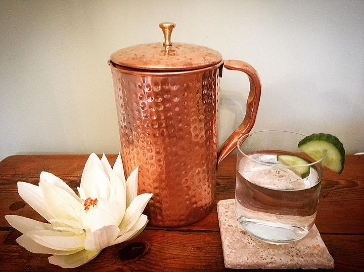 So happy with this beautiful new addition to the Kia Kaha treatment room  It's a handmade copper pitcher from @shantivashop  Water stored in a copper pitcher (known as 'Tamra Jal' in Ayurvedic Medicine) is gently infused with the positive health properties of copper and makes the water more alkaline. The benefits of copper infused water are said to be from its antibacterial and antiviral properties. It is thought to improve immunity, support good health, stimulate the brain and help to re...