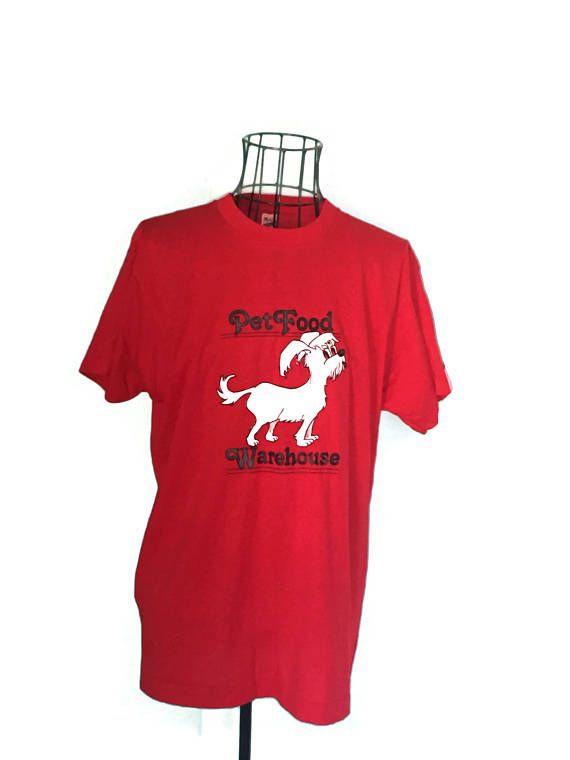 ♡• Vintage Red Dog Tee #Shirt #XL TShirt |  1988 Pet Foods Warehouse Marath... Best http://etsy.me/2amhAgw