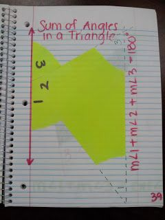 Exterior angles angles and math on pinterest - Sum of the exterior angles of a triangle ...