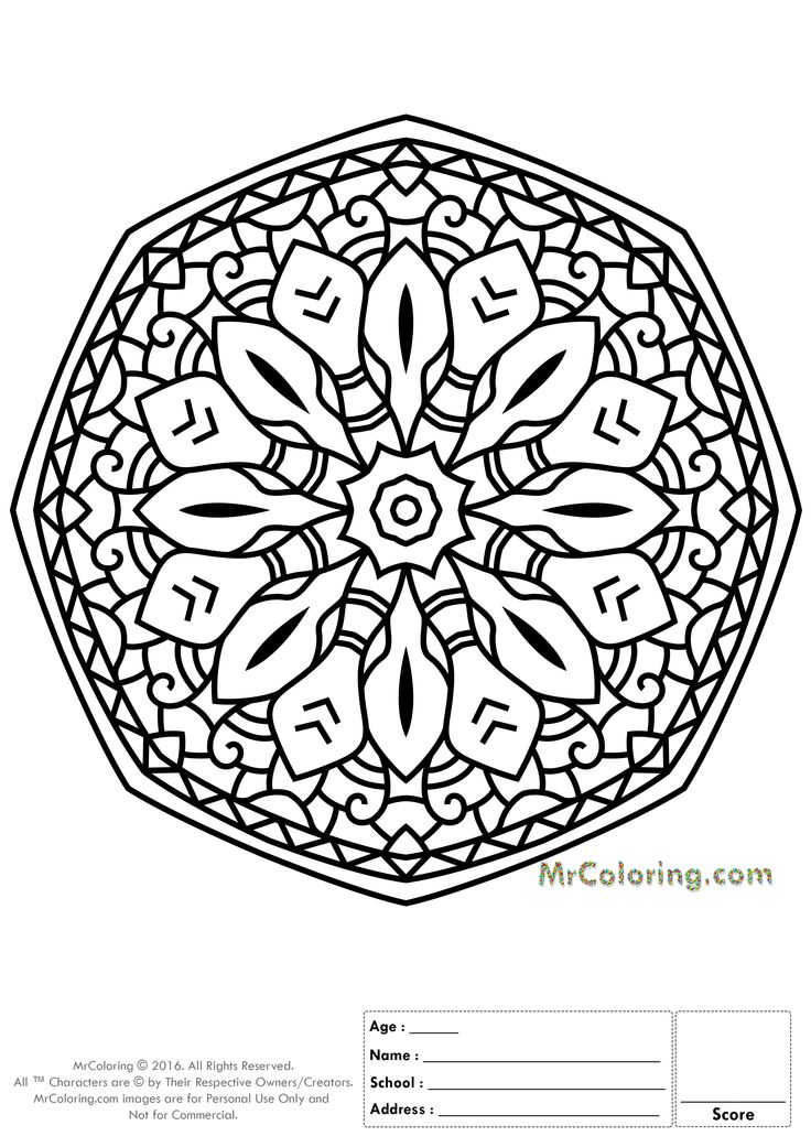 printable mandala online coloring pages and coloring worksheets 9