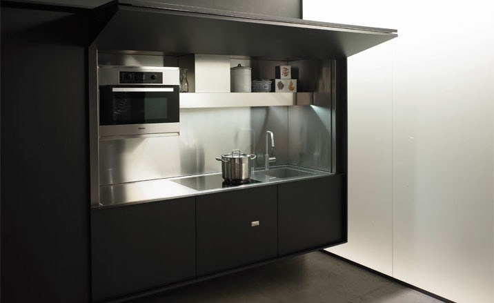 Boffi enclosed kitchen