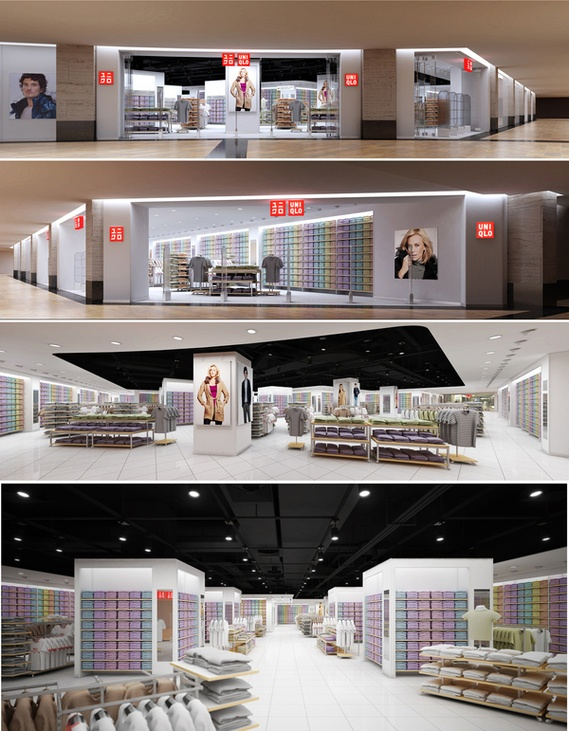 Uniqlo store, Afimall, Moscow JUST TAKE ME HERE AND TAKE ALL MY MONEY