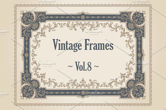 24 Vintage Frames. Vol.8 by FineScrap on @creativemarket