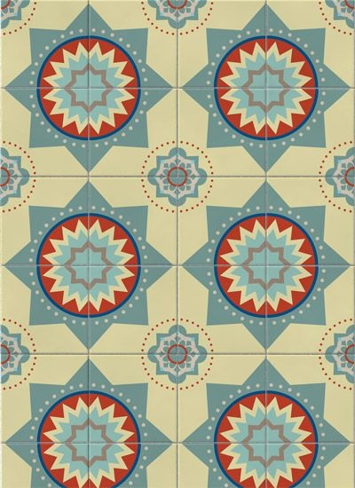 Adesivo de parede: azulejo estrela: GECKO Adesivos Decorativos