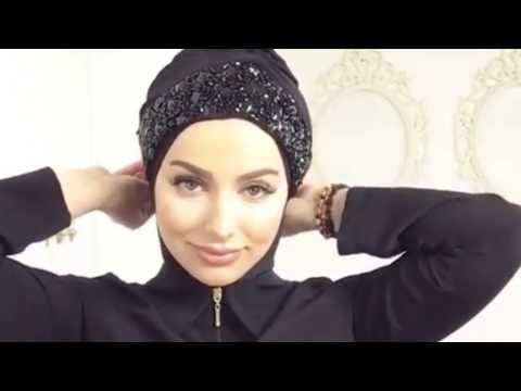 Easy and Simple Hijab in 5 minutes by 2 step - YouTube