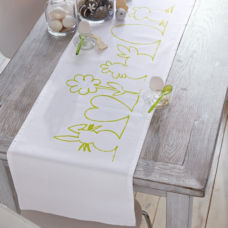 die besten 25 tischl ufer ostern ideen auf pinterest ostertischdecke kleister und. Black Bedroom Furniture Sets. Home Design Ideas