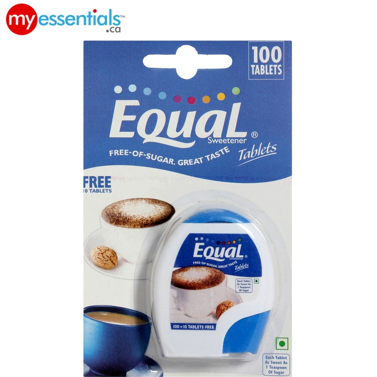 Equal Classic Tablets add sweetness to your hot drinks without the calories.     Keep up with a healthy lifestyle with MyEssentials.ca! :)