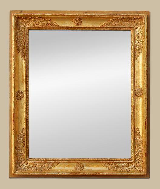 glace miroir ancien d 39 poque restauration bois dor miroir pinterest miroirs anciens. Black Bedroom Furniture Sets. Home Design Ideas