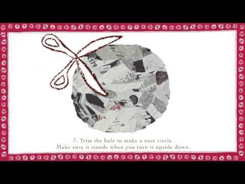 Welcome to this year's count down to Christmas. Today, day 17, Emily is making Papier Machie Decorations. http://www.emilybutton.co.uk/News/