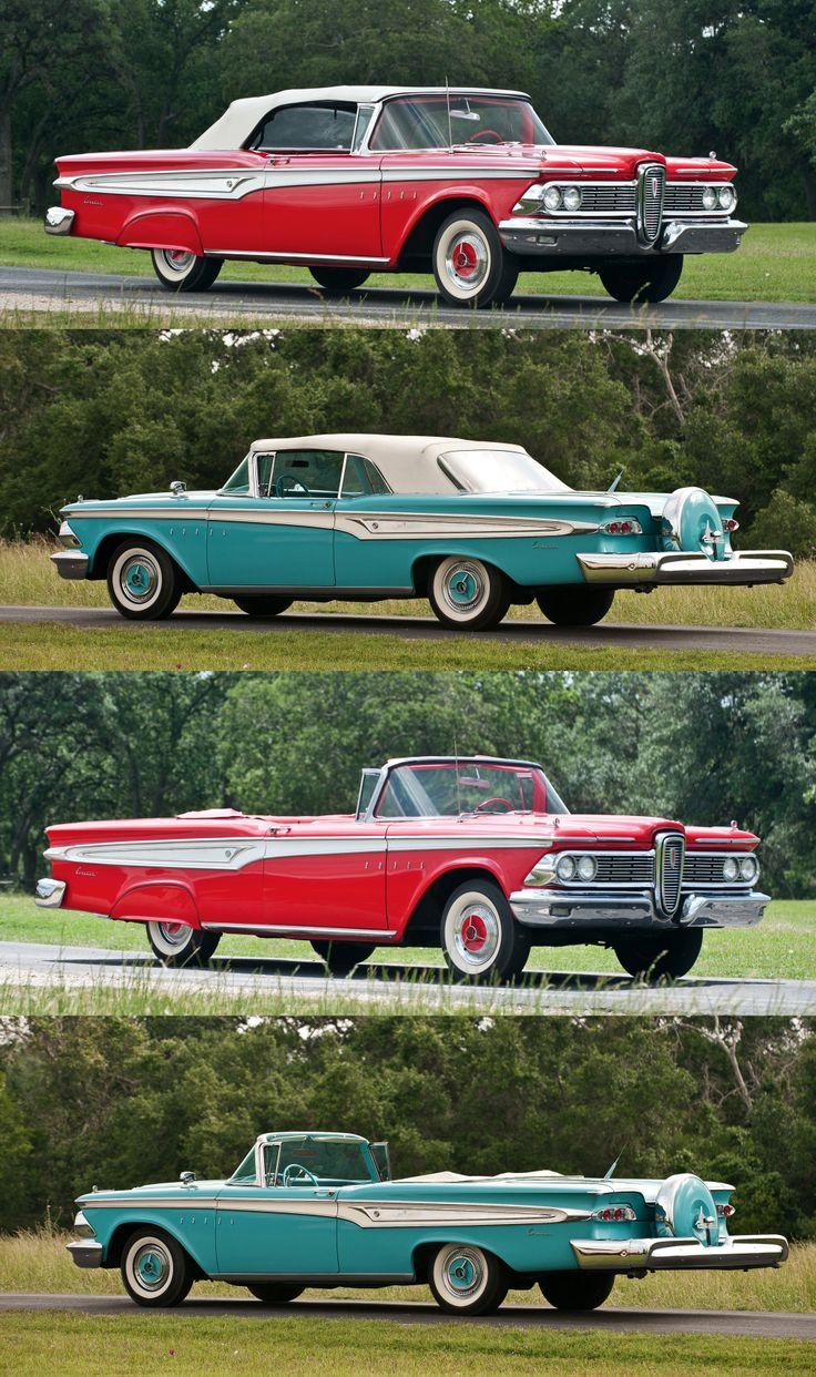 1956 chevrolet belair mjc classic cars pristine - 1959 Edsel Corsair 2 Door Convertibles Hmmm The Fender Skirt Option Or