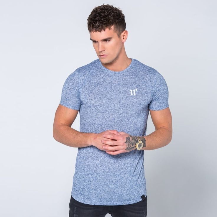Blue Speckle Tee by 11 Degrees