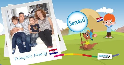 The Trinajastics from Zagreb, Croatia are another thrilled Helen Doron English family. Daria Koceic Trinajstic is an economist and her husband, Andrija is a petroleum engineer and both understand how important knowing good English is in Croatia, and around the world. #Success  #ESL  #EFL