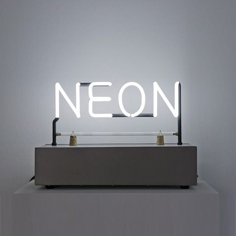 Neon, 1965  by Joseph Kosuth, Photo by Marc Domage.