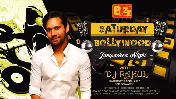 Join us in this Saturday for Saturday Bolywood Jampacked Night. It's going to be a lot of fun in the house with drool worthy food and drinks! Say Cheers to the weekend only at BUZZ Saket  Join us on: ✤ 8th April' 2017 (Saturday) ✤ 9:00PM Onwards  #Saturday #Weekend #Nightlide #DJ #Food #Party #Dance #Delhi #Club #Drink #Booze #Enjoy #Buzzsaket