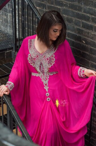 Beautiful, elegant kaftans. Bling embroidered. Modesty.